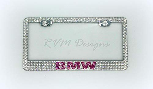 License Plate Frame made with Swarovski Crystals - Car Jewelry ()