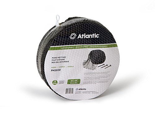 Atlantic Water Gardens Pond Net, 20-Feet by 20-Feet, Heavy-duty, Includes Stakes by Atlantic Water Gardens