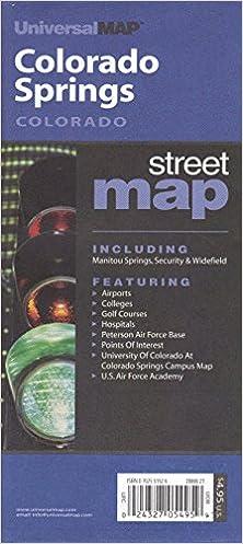 Air Force Academy Campus Map.Colorado Springs Colorado Street Map Universalmap Amazon Com Books