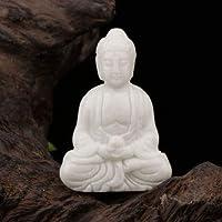Wizard Stone Bouddha sculpté à la main ancienne statue de jade