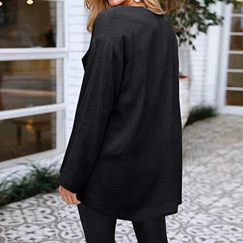 Aperta Sciolto Nero Breve Giacca Cardigan Mantello Solido Cappotto Lunghe Jersh Affascinante Tunica Kimono Maniche Sportiva Donne Donna Capispalla xv6YX