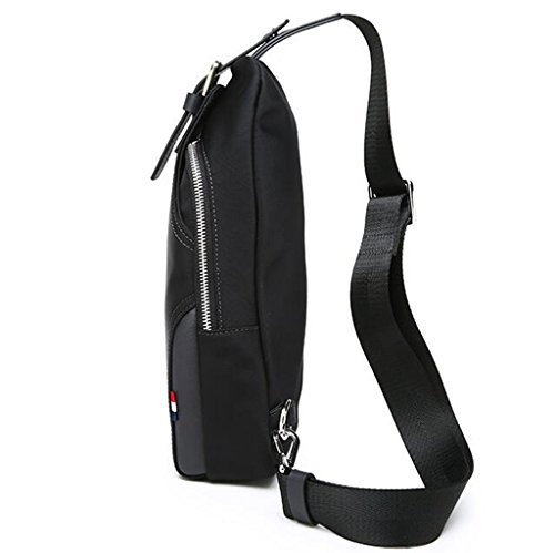 Travel Black Chest Men's Messenger Bag Harness Business Backpack Rventric Multi Nylon Outdoor purpose Gym Hiking A7xfqHtwAT