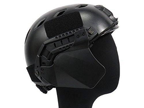 haoyk Militar Paintball Airsoft t/áctica up-armadura tapa lateral ulva protecci/ón para r/ápido casco negro