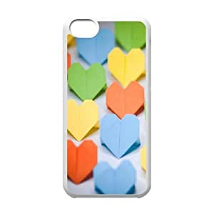 IPhone 5C Case, Paper Heart Case for IPhone 5C {White}