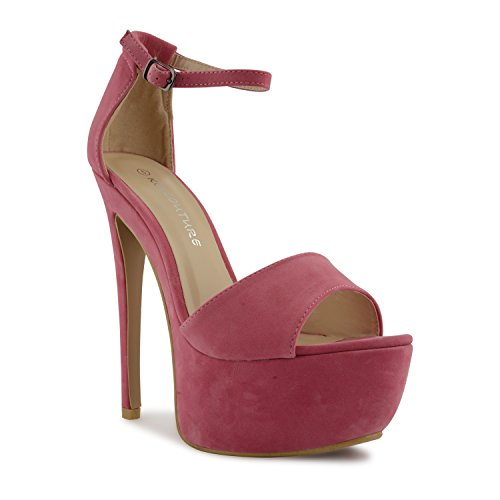 Suede negro para Sandalias Candy Sensation mujer vestir Footwear Pink negro de U1wFvRvq4