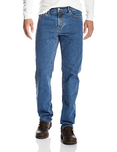 Quality Durables Co. Men's Regular-Fit Jean 34 x 30 Dark Stone Wash