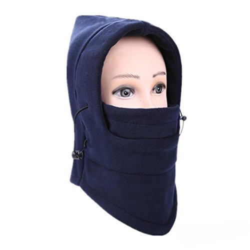 Balaclava Ski Face Mask Windproof Men Women Warm Hood Winter Masks Thermal Fleece Fabric with Breathable Vents for Cold Cycling Skiing Motorcycle Face Hats (D)