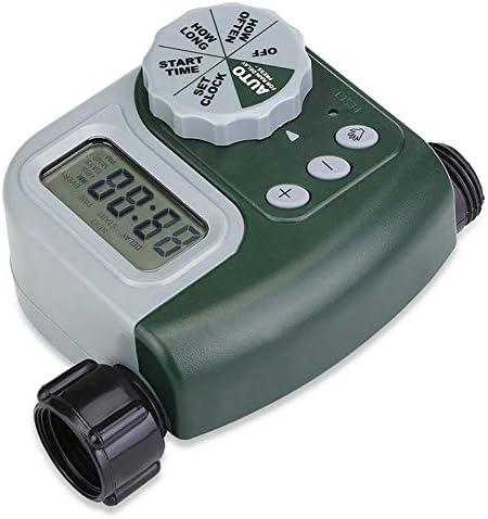 ABOGALE Bewässerungsuhr, Digitaler Wassertimer Wasserdichter LCD Bildschirm, Wasser Timer mit zeitgesteuerter Bewässerung,ideal zur Blumenbewässerung, Rasenbewässerung usw