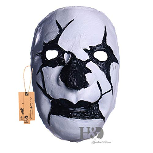 Latex Horror Mask Adult Full Face Breathable Halloween Mask Fancy Dress Party Cosplay Costume M1605221]()