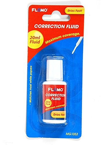 Flomo 20 Ml Correction Fluid with Brush(Pack of 48) by FLOMO (Image #1)