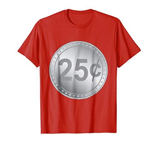 Mens Gumball Machine Quarter Couples Halloween Costume T-Shirt 2XL -