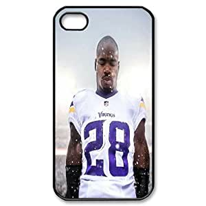 Yearinspace Adrian Peterson Case For IPhone 4/4s Elegant Design, Iphone 4 Case For Girls For Teen Girls With Black