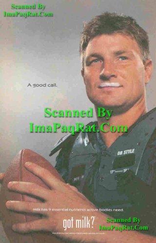 Got Milk? Brad Johnson: NFL Quarterback: Vikings, Redskins, Buccaneers, Cowboys: Great Original Photo Print Ad