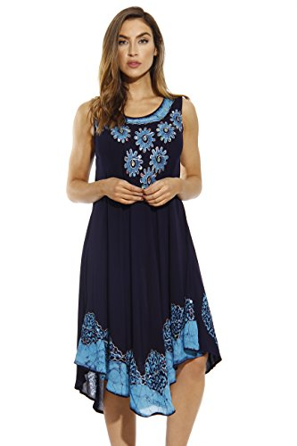 Riviera Sun Dress / Dresses for Women,Navy / Blue,X-Large ()