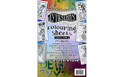 (Ranger Collection 2 Dylusions Colouring Sheets)