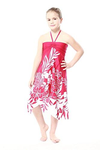 Girl Hawaiian Butterfly Dress in Pink Indri
