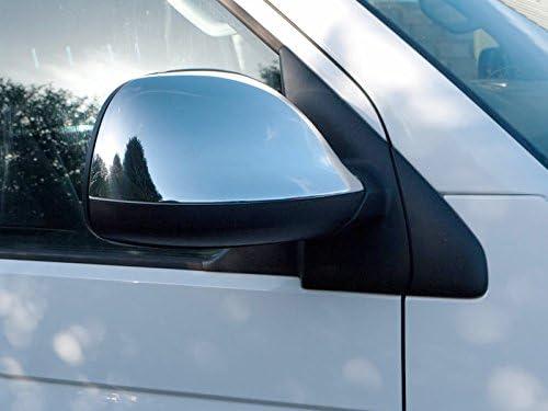 Juego de 2 tapas para espejo retrovisor de puerta de acero inoxidable cromado Demon Styling