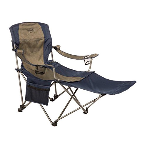 Kamp-Rite Chair with Removable Foot Rest One Size, Multi -