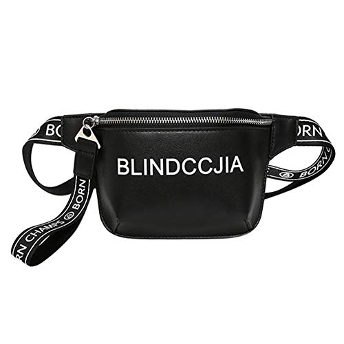 Hip-hop Fanny Pack Chest Sling Bag Street Style Bum Bag Crossbody Phone Pouch by mossty