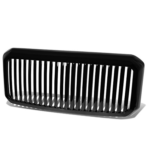 For 11-16 Ford Super Duty ABS Plastic Vertical Fence Front Bumper Grille (Black)