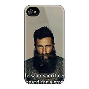 LeoSwiech Apple Iphone 4/4s Protective Hard Cell-phone Case Custom Stylish He Who Sacrifices His Beard For A Woman Deserves Neither Skin [Wkh27775VCQV]