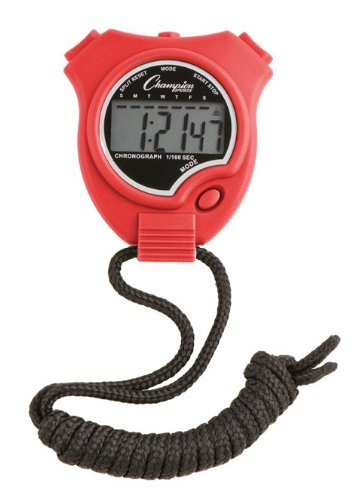 Champion Sports Running Walking Stop Watch Stopwatch Alarm Red