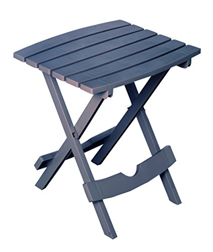 Adams Manufacturing 8500-94-3901 Plastic Quik-Fold Side Table, Bluestone by Adams Manufacturing