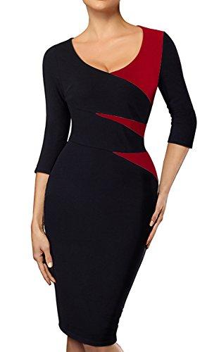 Red Black Dress - 6