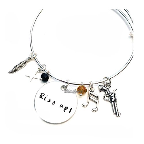 Halloween Film Costumes Ideas (BlingSoul Broadway Musical Bracelet Bangle Jewelry - Alexander Hamilton Musical Gifts)
