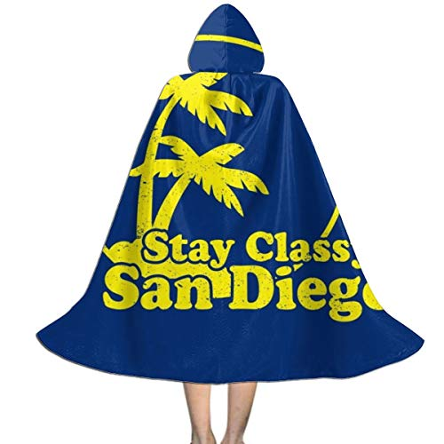 Best Halloween Decorations San Diego (Stay Classy San Diego Anchorman Unisex Kids Hooded Cloak Cape Halloween Xmas Party Decoration Role Cosplay Costumes)