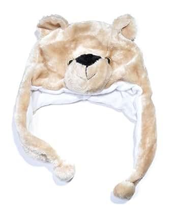Plush Animal Winter Hat Tan Cub