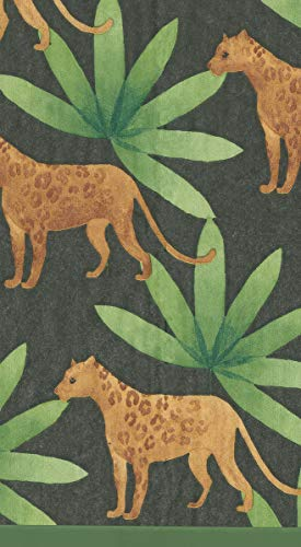 Caspari Disposable Hand Towels, Decorative Paper Guest Towels for Bathroom or Paper Napkins Dinner Napkins Jungle Theme Party Supplies Panthera Green Pak ()