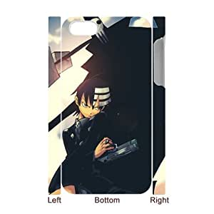 3D Print Atsushi Ookubo Comics&Soul Eater Background Case Cover for iPhone 4/4S - Personalized Hard Cell Phone Back Protective Case Shell-Perfect as gift