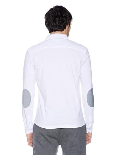 Basus Langarm Poloshirt white
