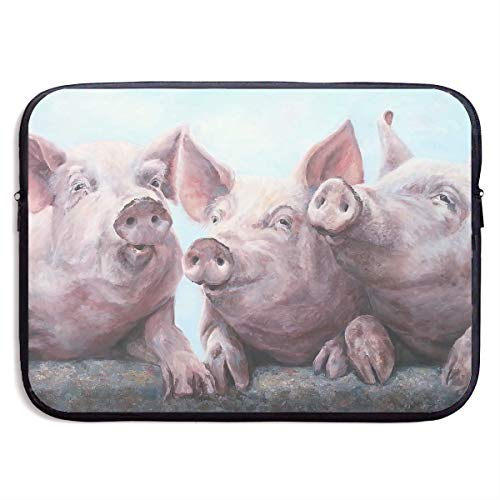 Fashion Computer Liner Sleeve Case Three Pigs Painting Art Portable Laptop Protective Bag Cover Handbag for 13 Inch MacBook Pro/MacBook - Clothing Three Floyds