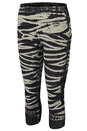 Nike Womens Dri-Fit Legend 2.0 Capris-Black /Gray-Large