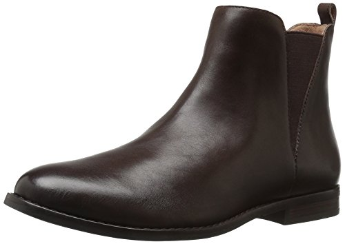 206 Collective Women's Ballard Chelsea Ankle Boot Chocolate Brown Leather