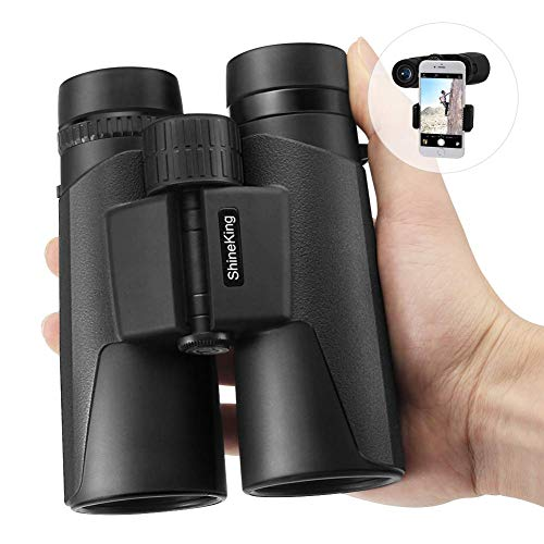 Mjiands Binoculars, 12 x 42 High Powered Binoculars for Bird Watching Travel Hunting Concerts Sports, Compact Binoculars for Adults with Phone Mount & Carrying Bag