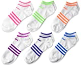 adidas Kids' - Girls Superlite No Show Socks (6-Pair)