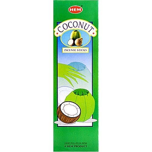 Coconut 16 Inches Tall - 60 Jumbo Sticks Box - HEM Incense