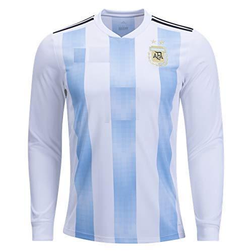 timeless design 0b642 654e2 Stylexa Men's Polyester White/Blue Full Sleeve Messi ...
