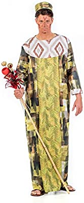 Limit Sport- Disfraz Africano Rey Onika, XL (EA214): Amazon.es ...