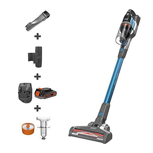 BLACK+DECKER BSV2020G POWERSERIES Extreme Cordless Stick Vacuum Cleaner, Blue (Renewed)