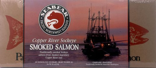 SeaBear Copper River Smoked Sockeye Salmon, 16-Ounce Unit
