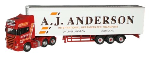 1:76 Oxford Diecast A J Anderson Scania Fridge by Oxford Diecast