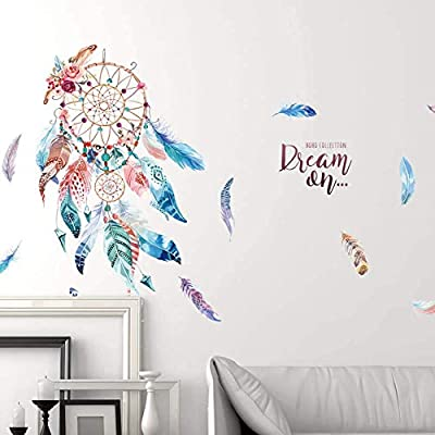 WallDecals Dream Catcher Wall Sticker Mural Art Removable Decals for Classroom Offices Kids Bedroom Bathroom Living Room Decoration (3): Baby