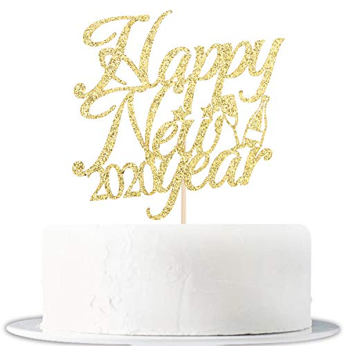 Happy New Year 2020 Cake Topper, Hello 2020 Party Decorations, Party Toppers for New Years Eve Party Decorations Supplies