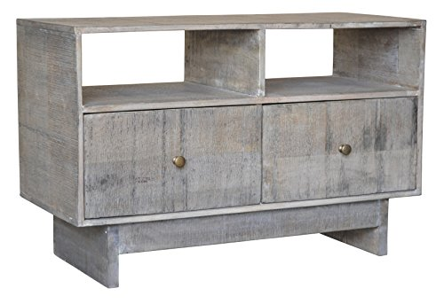 BP Industries 2-Drawer Media Console, Rough Salvage