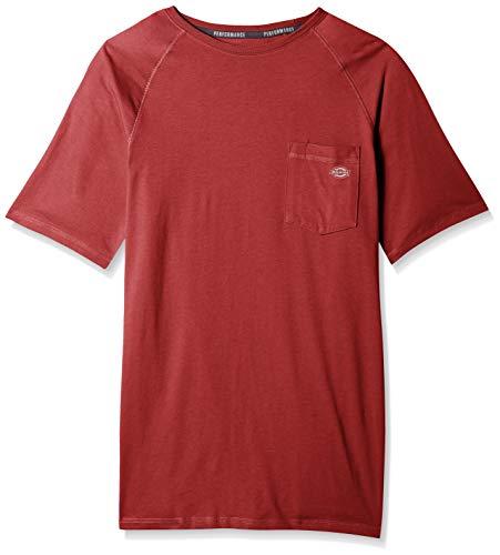 Dickies Men's Short Sleeve Performance Cooling Tee, Cane red, - Performance Undershirt