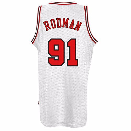 4f759ff7d24 Dennis Rodman Chicago Bulls Adidas NBA Throwback Swingman Jersey - White -  Buy Online in Oman.